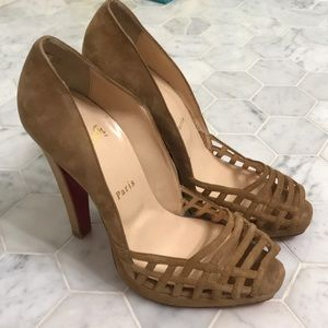 Gorgeous tan suede Christian Louboutin heels